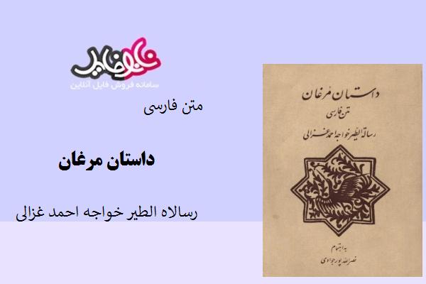 کتاب داستان مرغان رساله الطیر خواجه احمد غزالی